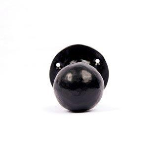 Ball Mortice Knob The Iron Works Black Antique Ironmongery