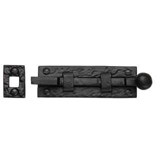 Black Malleable Iron Cranked Door Bolt